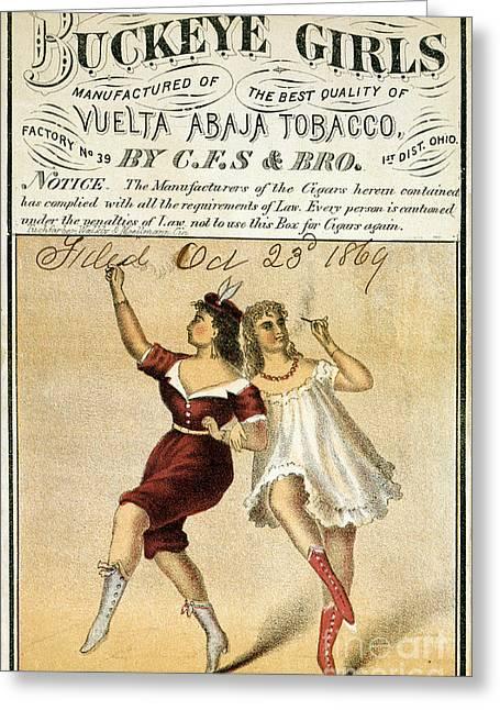 Buckeye Girls Tobacco Poster 1869 Greeting Card