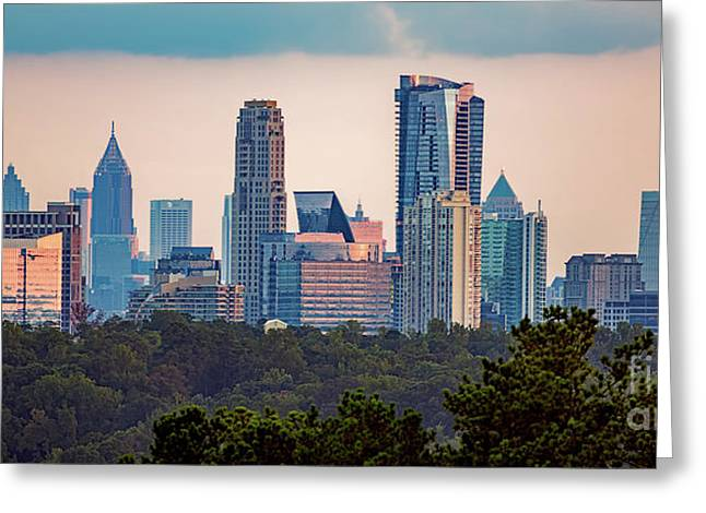 Buckhead Atlanta Skyline Greeting Card
