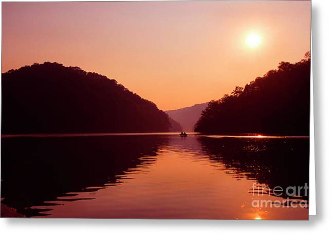 Greeting Card featuring the photograph Buckhorn Lake Sunset by Thomas R Fletcher