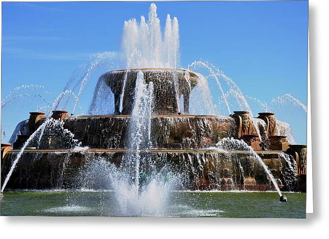 Buckingham Fountain 2 Greeting Card