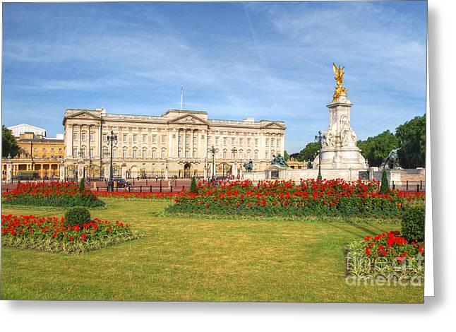 Buckingham Palace And Garden Greeting Card