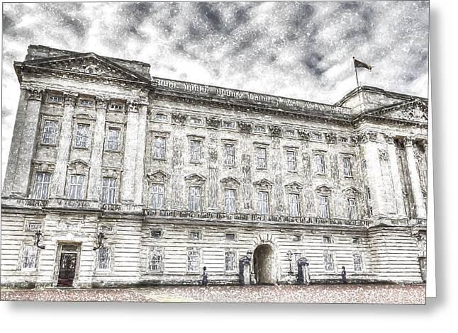 Buckingham Palace London Snow Greeting Card