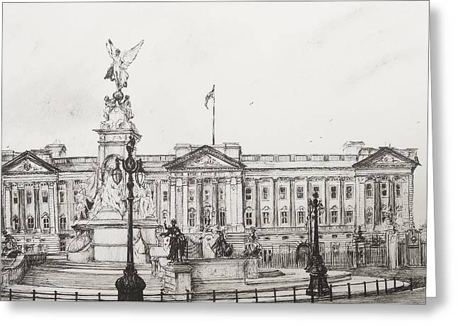 Buckingham Palace Greeting Card by Vincent Alexander Booth