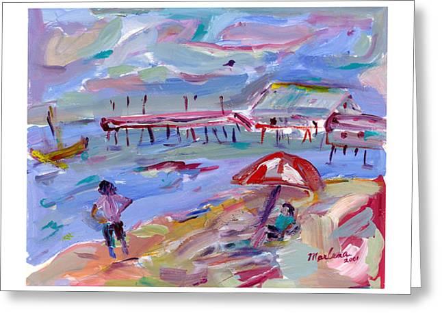 Buckroe Beach Greeting Card by Marlene Robbins