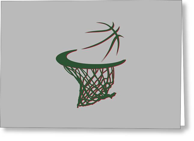 Bucks Basketball Hoop Greeting Card by Joe Hamilton