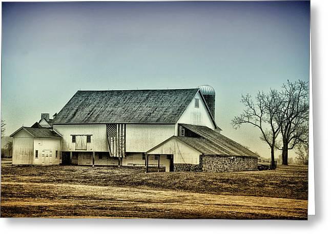 Pennsylvania Barns Greeting Cards - Bucks County Farm Greeting Card by Bill Cannon