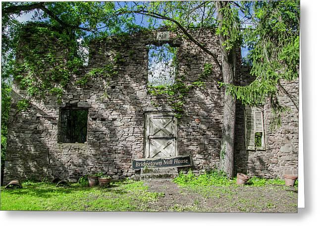 Bucks County Ruin - Bridgetown Mill House Greeting Card by Bill Cannon
