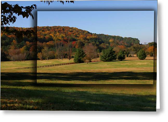 Bucks Mountain In Autumn Greeting Card