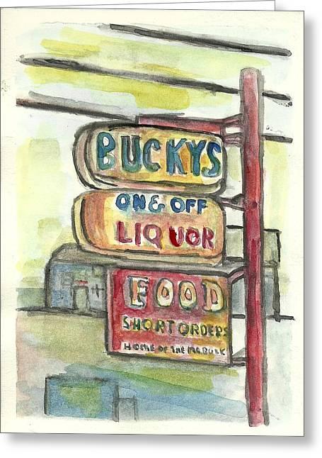 Buckys Greeting Card