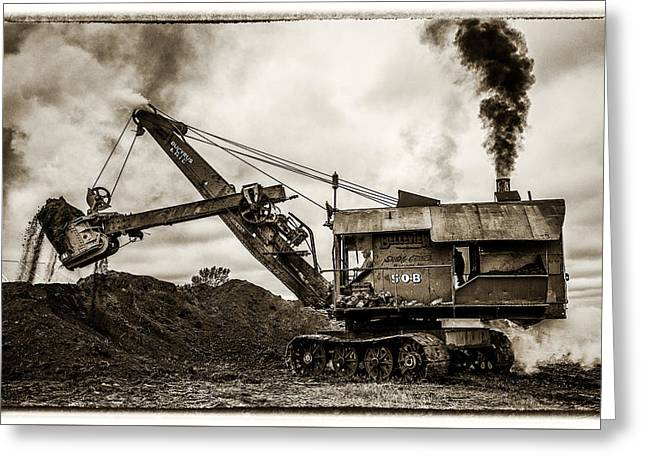 Bucyrus Erie Shovel Greeting Card by Paul Freidlund