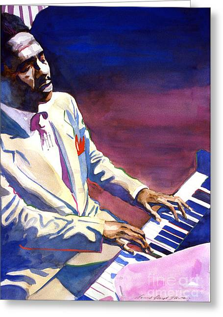 Bud Powell Piano Bebop Jazz Greeting Card by David Lloyd Glover