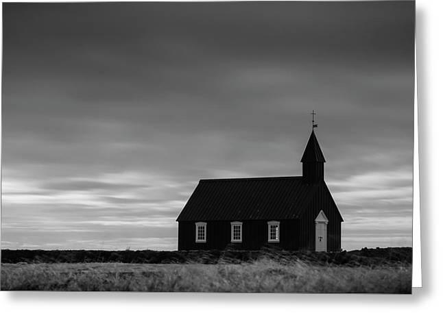 Budakirkja, The Black Church In Iceland Greeting Card