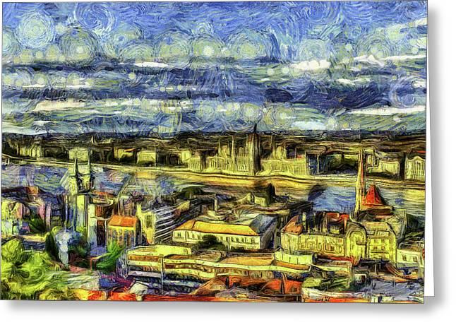 Budapest City Vincent Van Gogh Greeting Card
