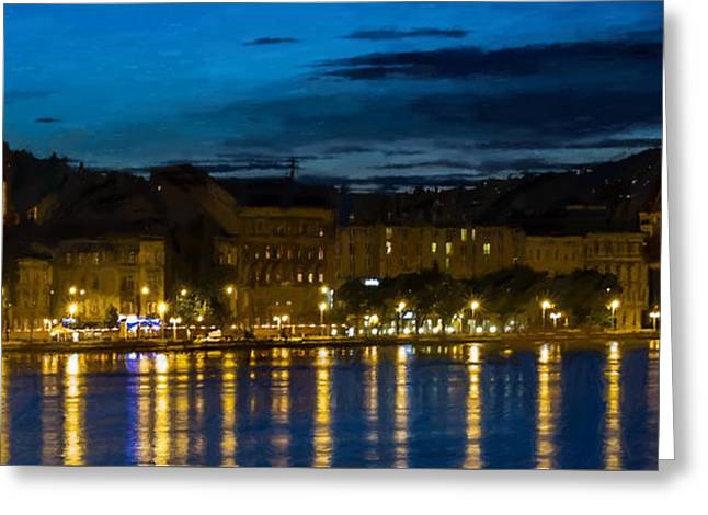 Budapest - Id 16236-104950-6215 Greeting Card by S Lurk