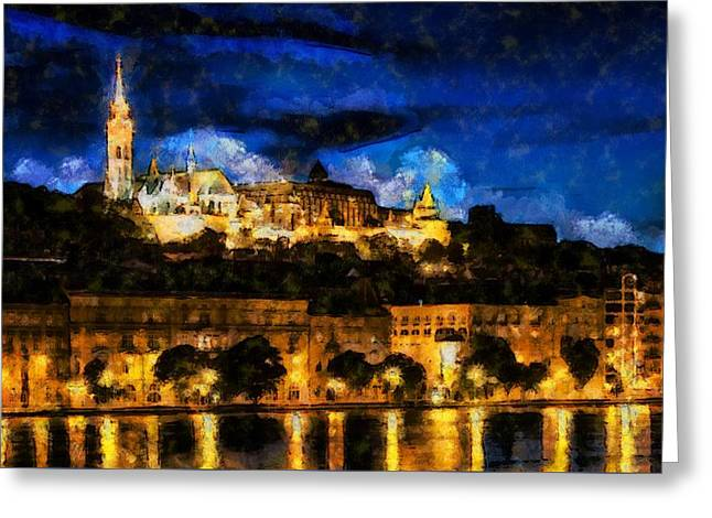 Budapest - Id 16236-104953-5198 Greeting Card by S Lurk