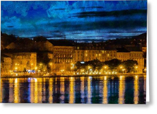 Budapest - Id 16236-104956-8529 Greeting Card by S Lurk