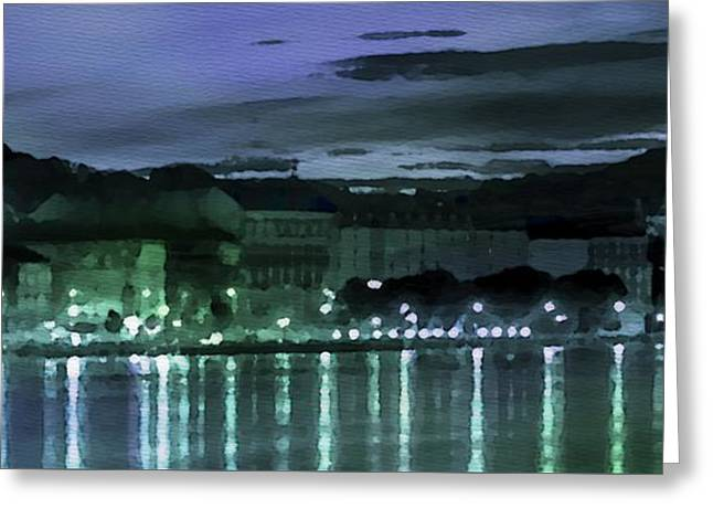 Budapest - Id 16236-105001-0932 Greeting Card by S Lurk