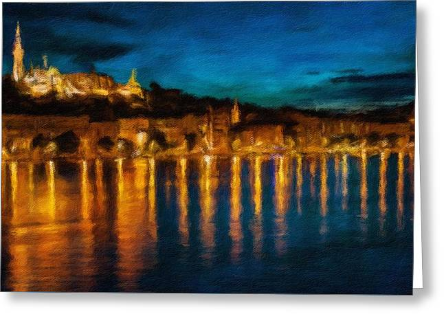 Budapest - Id 16236-105001-1122 Greeting Card by S Lurk