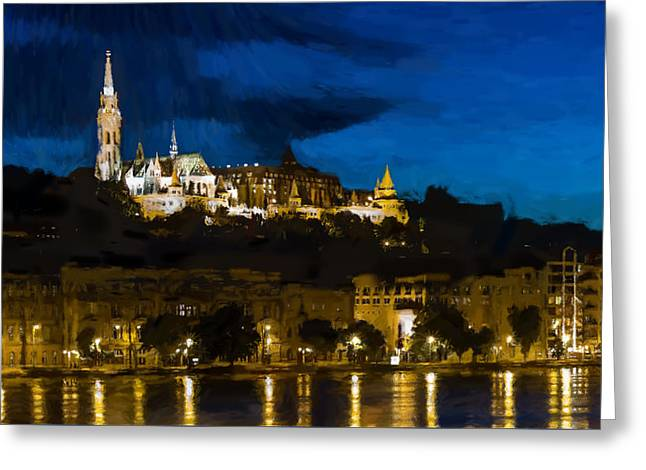 Budapest - Id 16236-105003-3312 Greeting Card by S Lurk