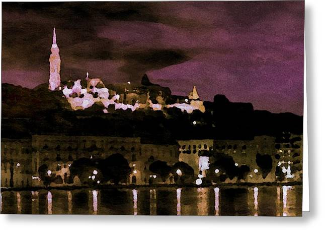 Budapest - Id 16236-105014-9910 Greeting Card by S Lurk