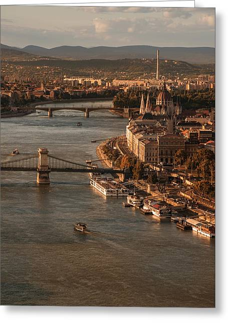 Budapest In The Morning Sun Greeting Card by Jaroslaw Blaminsky