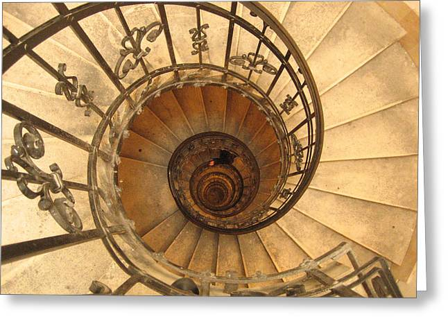 Budapest Staircase Greeting Card