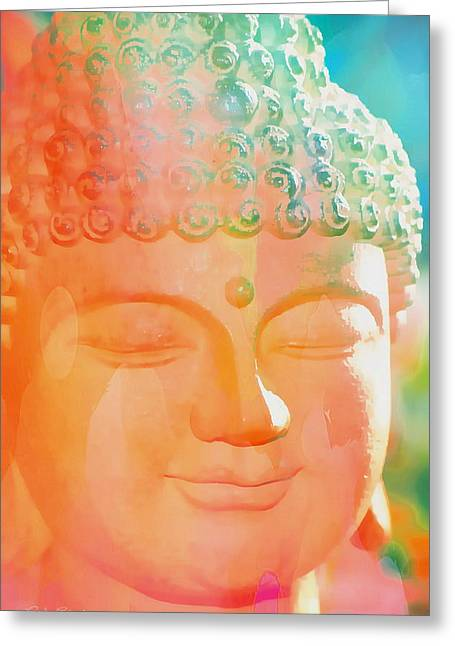 Greeting Card featuring the photograph Buddah Glow by Cindy Greenstein