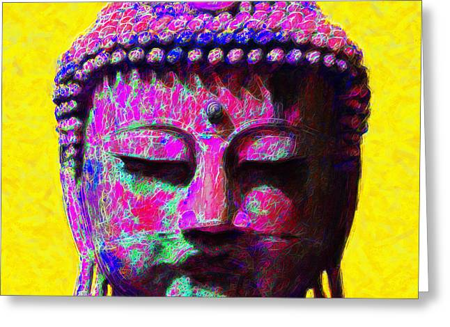Buddha 20130130m168 Greeting Card by Wingsdomain Art and Photography
