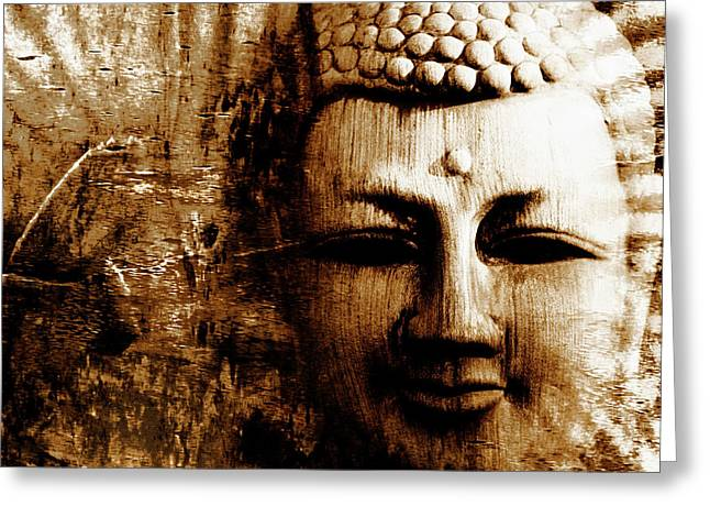 Buddha Abstract Greeting Card by Skip Nall