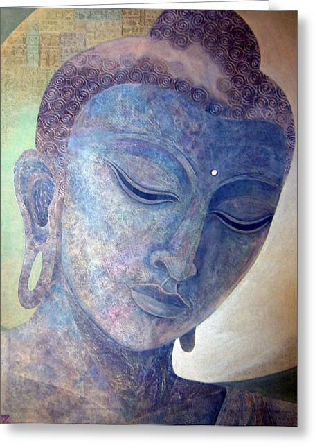 Buddha Alive In Stone Greeting Card by Jennifer Baird