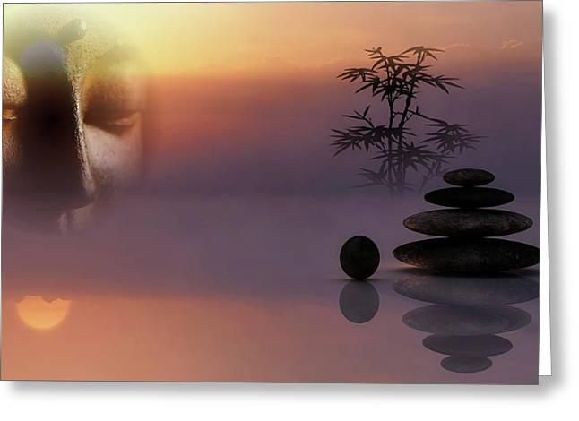 Buddha And Stones - Serenity Greeting Card