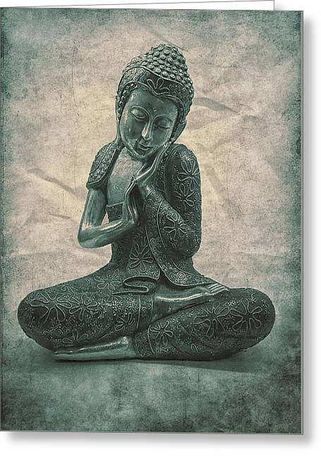 Buddha Contemplate Greeting Card by Madeleine Forsberg