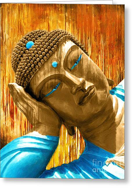 Buddha Contemplation Greeting Card