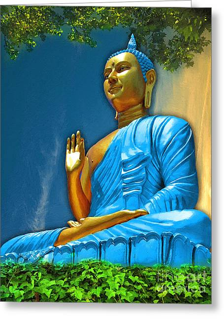 Buddha Daylight Greeting Card by Khalil Houri