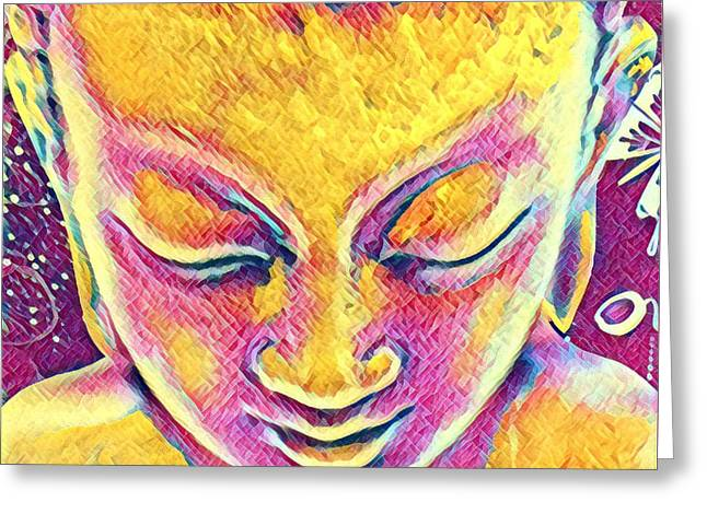 Buddha Dreams Greeting Card