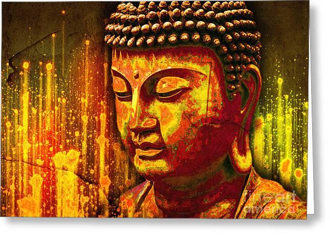 Buddha Eclipse Greeting Card
