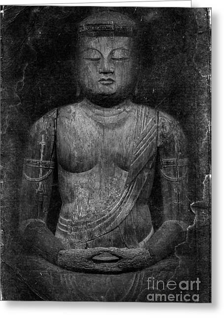 Buddha Greeting Card by Edward Fielding