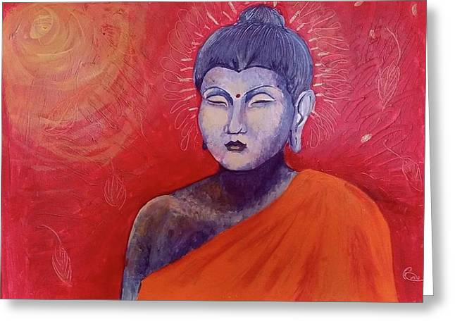 Buddha In Red Greeting Card