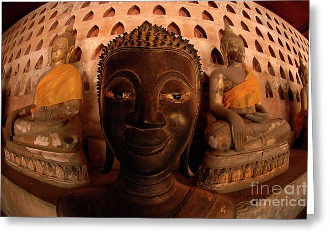 Buddha Laos 1 Greeting Card by Bob Christopher