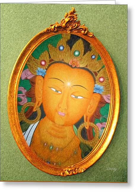Buddha Mirror Greeting Card