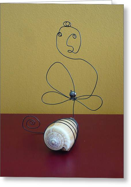 Buddha On Shell Greeting Card by Live Wire Spirit