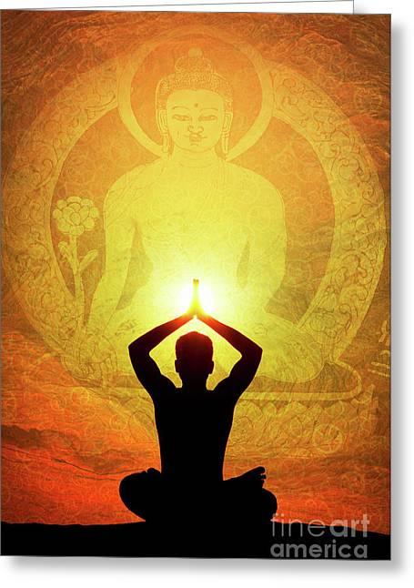Buddha Prayer Greeting Card