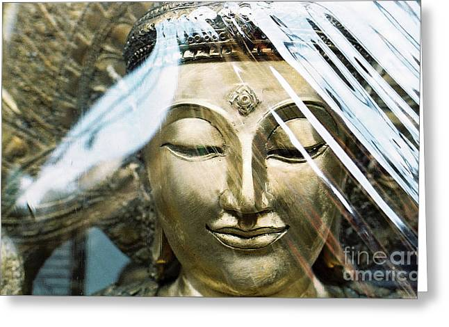 Greeting Card featuring the photograph Buddha Protected by Dean Harte