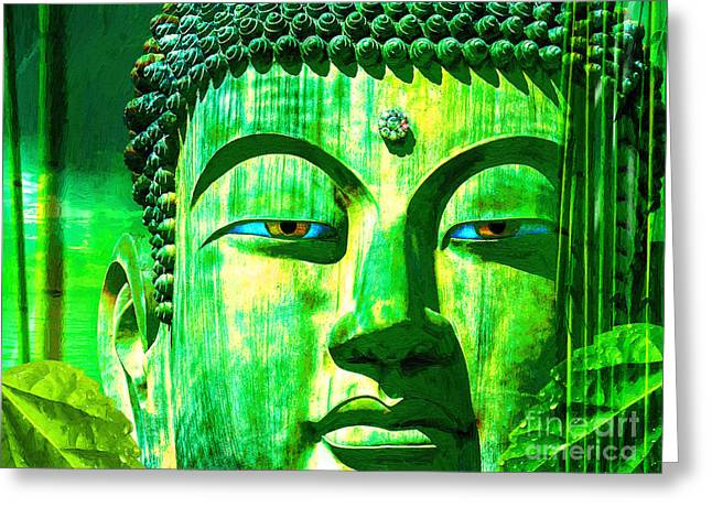 Buddha Rainforest Greeting Card