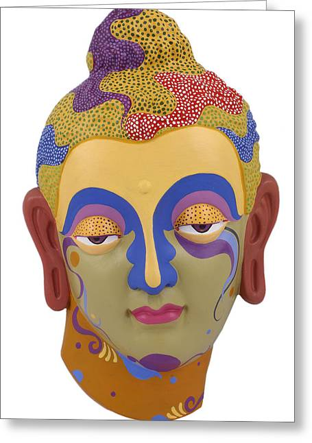 Buddha - Relief-2 Greeting Card