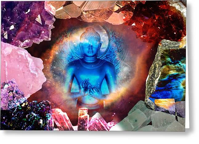 Buddha Rocks Greeting Card