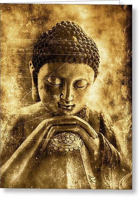 Buddha Ruby Red Greeting Card