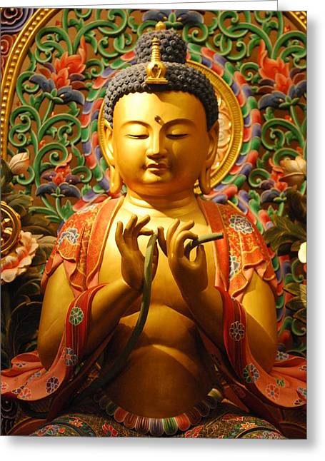 Buddha Greeting Card by Susette Lacsina