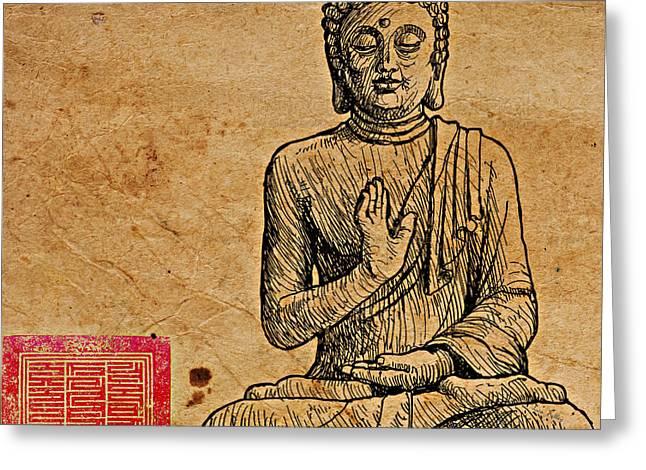 Buddha The Minimalist Greeting Card