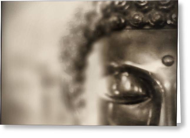 Greeting Card featuring the photograph Buddha Thoughts by Douglas MooreZart